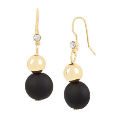 Bleu™ Black and Gold Double Drop Earrings
