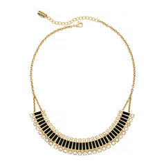 nicole by Nicole Miller® Crystal Gold-Tone Collar Necklace