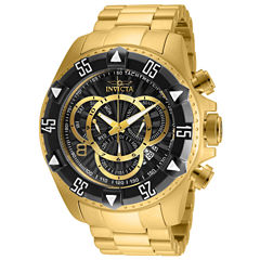 Invicta Excursion Mens Gold Tone Bracelet Watch-24265