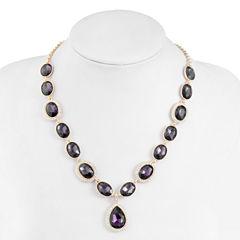 Monet Jewelry Womens Purple Y Necklace