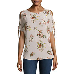 Buffalo Jeans Floral Cold Shoulder Tee