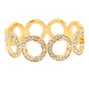 Worthington® Gold-Tone Pave Circle Hinged Bracelet