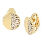 Worthington® Gold-Tone Clip-On Disc Earrings