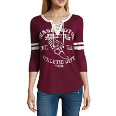 Arizona Lace Up Football T-Shirt- Juniors