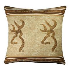 Browning Buckmark Throw Pillow