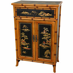 Oriental Furniture Rosewood Nesting Tables