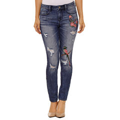 Bold Elements Embroidered Skinny Jeans