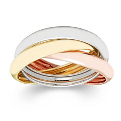 made in italy 10k gold tri color roller ring - Jcpenney Jewelry Wedding Rings