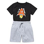 Okie Dokie Attitude Bodysuit or Knit Shorts - Baby Boys newborn-24m