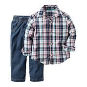 Carter's® 2-pc. Playwear Long-Sleeve Top & Pants Set - Baby Boys newborn-24m