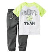 Carter's® 2-pc. Playwear Tee & Pants Set - Baby Boys newborn-24m
