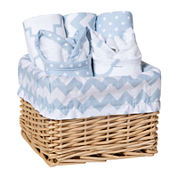 Trend Lab® Sky 7-pc. Feeding Basket Gift Set - Blue