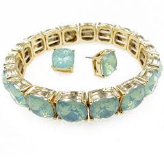 Vieste Rosa Womens 2-pc. Green Brass Jewelry Set