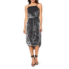 T.D.C Belted Midi Sheath Dress