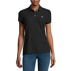 Us Polo Assn. Quick Dry Short Sleeve Solid Knit Polo Shirt