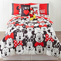 Disney® Minnie Mouse Who Am I Twin/Full Reversible Comforter + BONUS Sham Collection