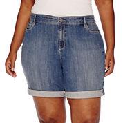 Liz Claiborne® Boyfriend Denim Shorts - Plus