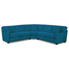 Fabric Possibilities Sharkfin-Arm 3-pc. Left-Arm Loveseat Sectional with Sleeper
