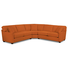 Fabric Possibilities Sharkfin-Arm 3-pc.Right-Arm Loveseat Sectional with Sleeper