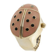 Decree® Womens Ladybug Ring Watch