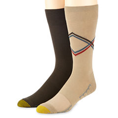 Gold Toe® 2-pk. Casual Stripe Argyle Stripe Crew Socks
