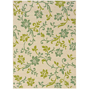 Covington Home Delicate Vine Floral Indoor/OutdoorRectangular Rug