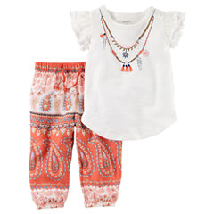 Carter's 2-pc. Paisley Pant Set Baby Girls