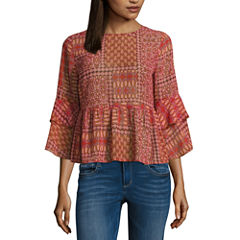 Arizona Sheer Peplum Top- Juniors