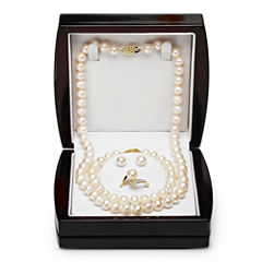 Cultured Freshwater Pearl and Diamond-Accent 4-pc. Boxed Set