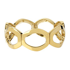 Worthington® Gold-Tone Openwork Oval Link Stretch Bracelet
