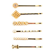 Carole 6-pc. Bow, Simulated Pearl and Flower Bobby Pin Set