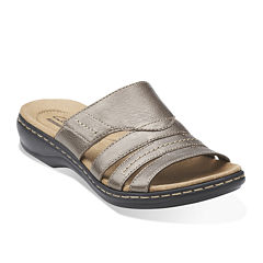 Clarks® Leisa Grove Leather Sandals