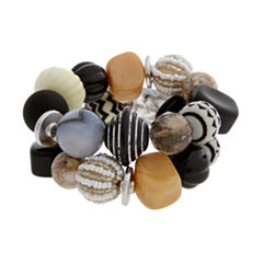 EL by Erica Lyons El By Erica Lyons Black Naturals Womens Beaded Bracelet