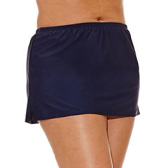 Costa Del Sol Solid Swim Skirt-Juniors Plus