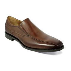 Florsheim® Portico Mens Leather Bike-Toe Slip-On Dress Shoes