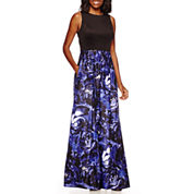 Signature by Sangria Sleeveless Printed Formal Gown