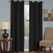 Eclipse® Microfiber Grommet-Top Blackout Curtain Panel