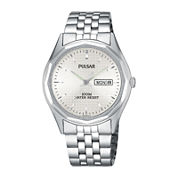 Pulsar® Mens Dress Silver-Tone Watch PJ6029