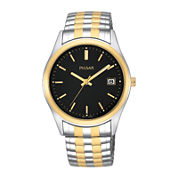 Pulsar® Mens Two-Tone Expansion Watch PXH428