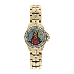 Elgin® Womens Jesus Crystal-Accented Watch