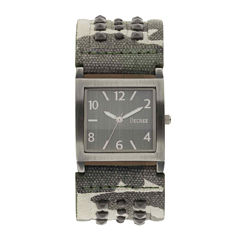 Decree® Womens Camo Stud Bracelet Watch