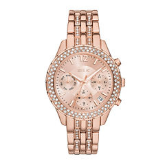 Relic® Merrit Womens Crystal-Accent Rose-Tone Bracelet Watch ZR15787
