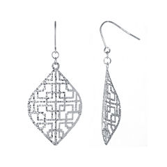 Sterling Silver Filigree Cutout Drop Earrings