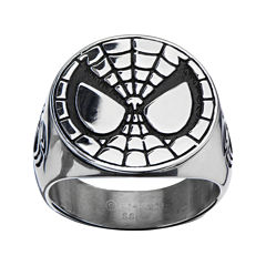 Marvel Spiderman Mens Stainless Steel Ring