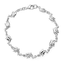 Made in Italy Sterling Silver Dolphin Bracelet