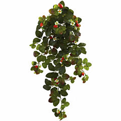 """2-pc. 31"""" Strawberry Hanging Bush With  Berry"""