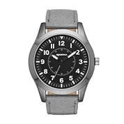 Arizona Mens Grey And Black Strap Watch