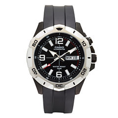 Casio® Mens Black LED Strap Watch MTD1082-1AV