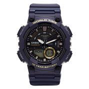 Casio® G-Shock Mens Blue 3D Dial Heavy Duty Strap Watch AEQ110W-1AV