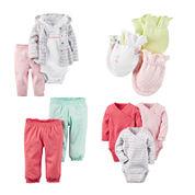 Carter's® Pink Geo-Print 3-pc. Layette Set, 3-pk. Mittens, 2-pk. Pants or 3-pk. Bodysuits - Baby Girls newborn-24m